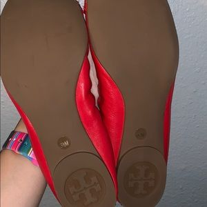 Tory Burch Shoes - Red Tory burch flats
